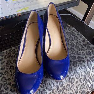 Tommy Hilfiger royal blue patent heels